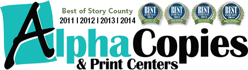 Alpha Copies and Print Centers | Ames, Iowa